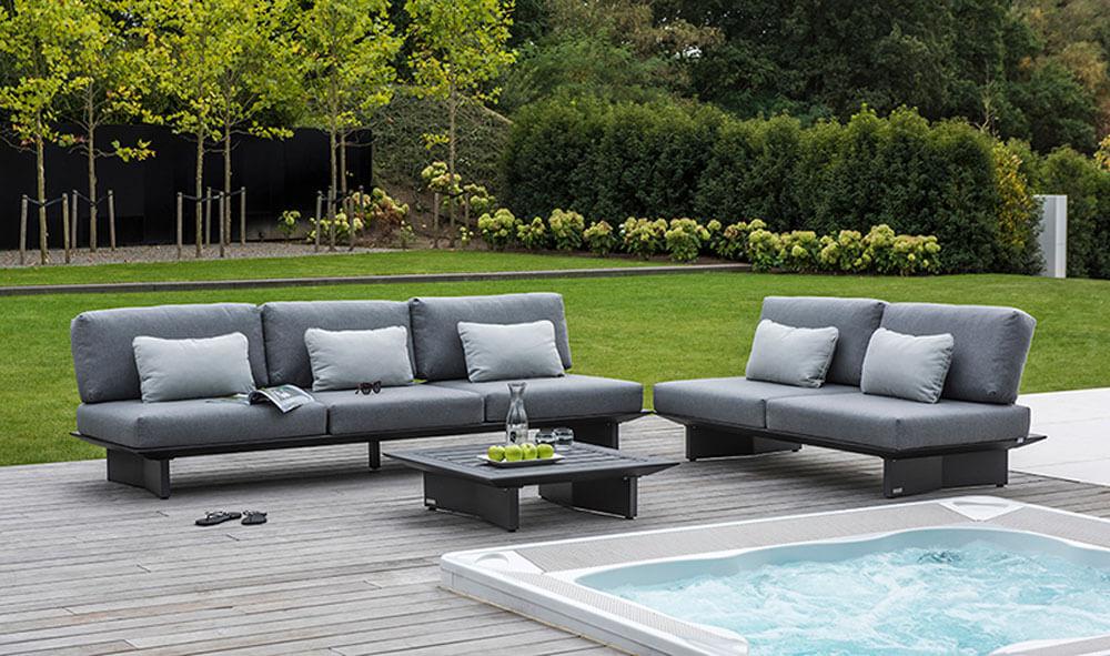 Garten Lounge am Whirlpool