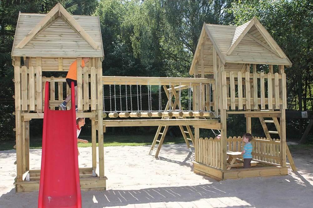 Kinderspielgeraet Spielturmanlage Soeren Bausatz gepruefte Sicherheit