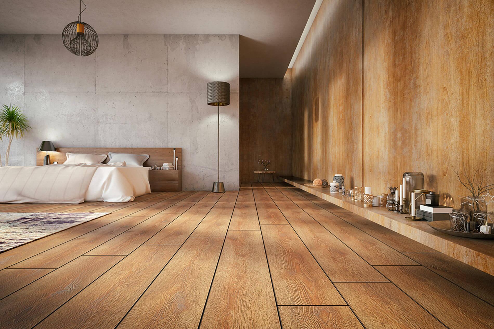 Schöne Wohneinrichtung mit tollem Holzboden